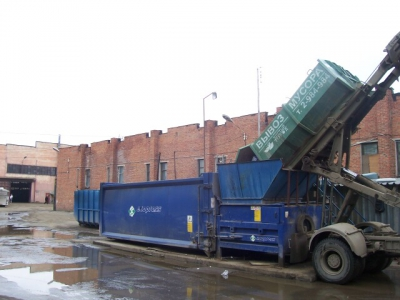 Принцип опорожнения контейнера на СМП